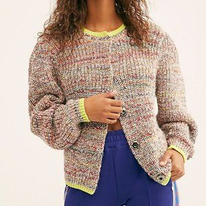 NWT Free People Walk On By Space Knit Cardigan S
